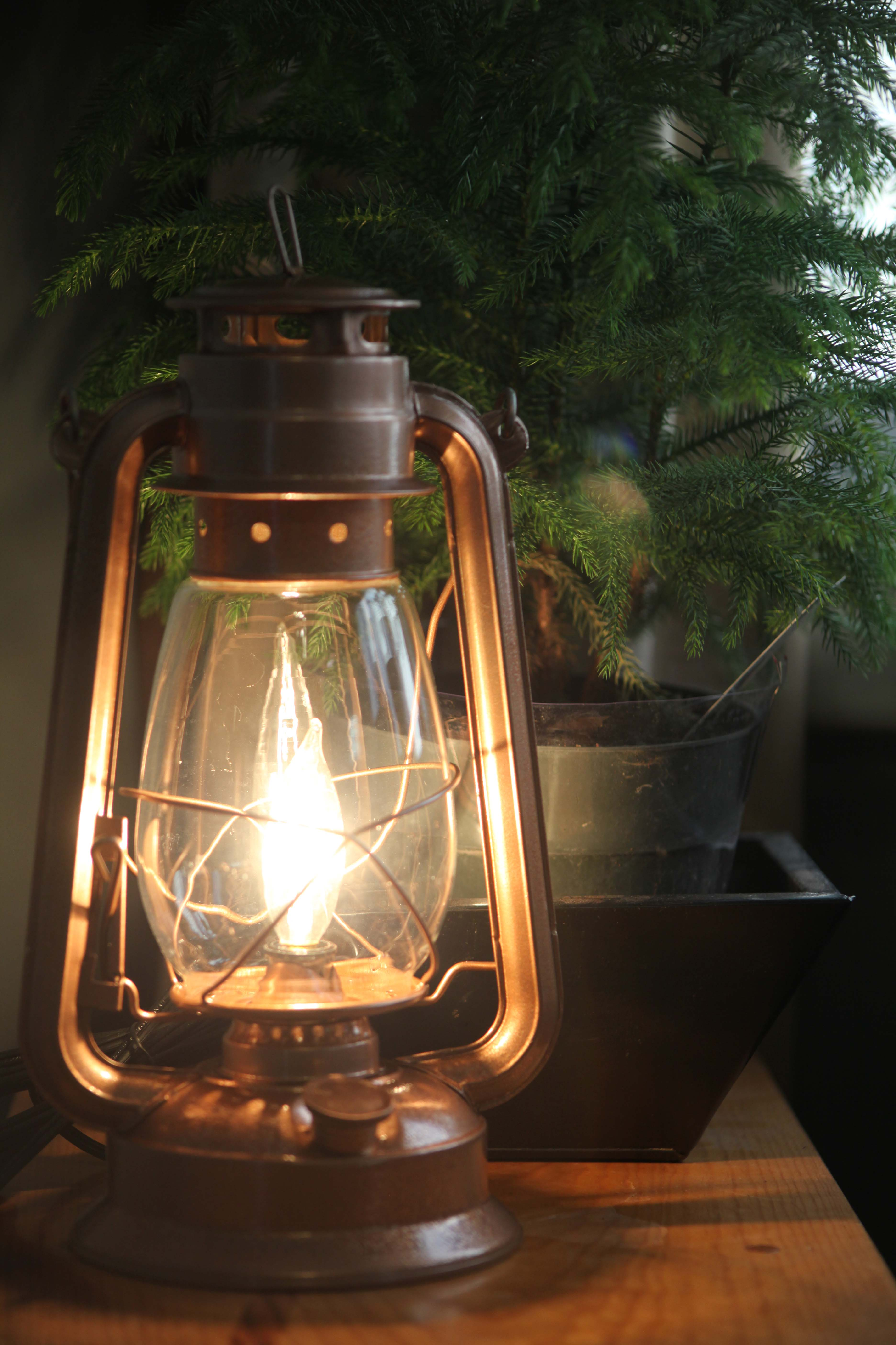 Electric Lantern Table Lamp, COPPER LANTERN, Electric ...