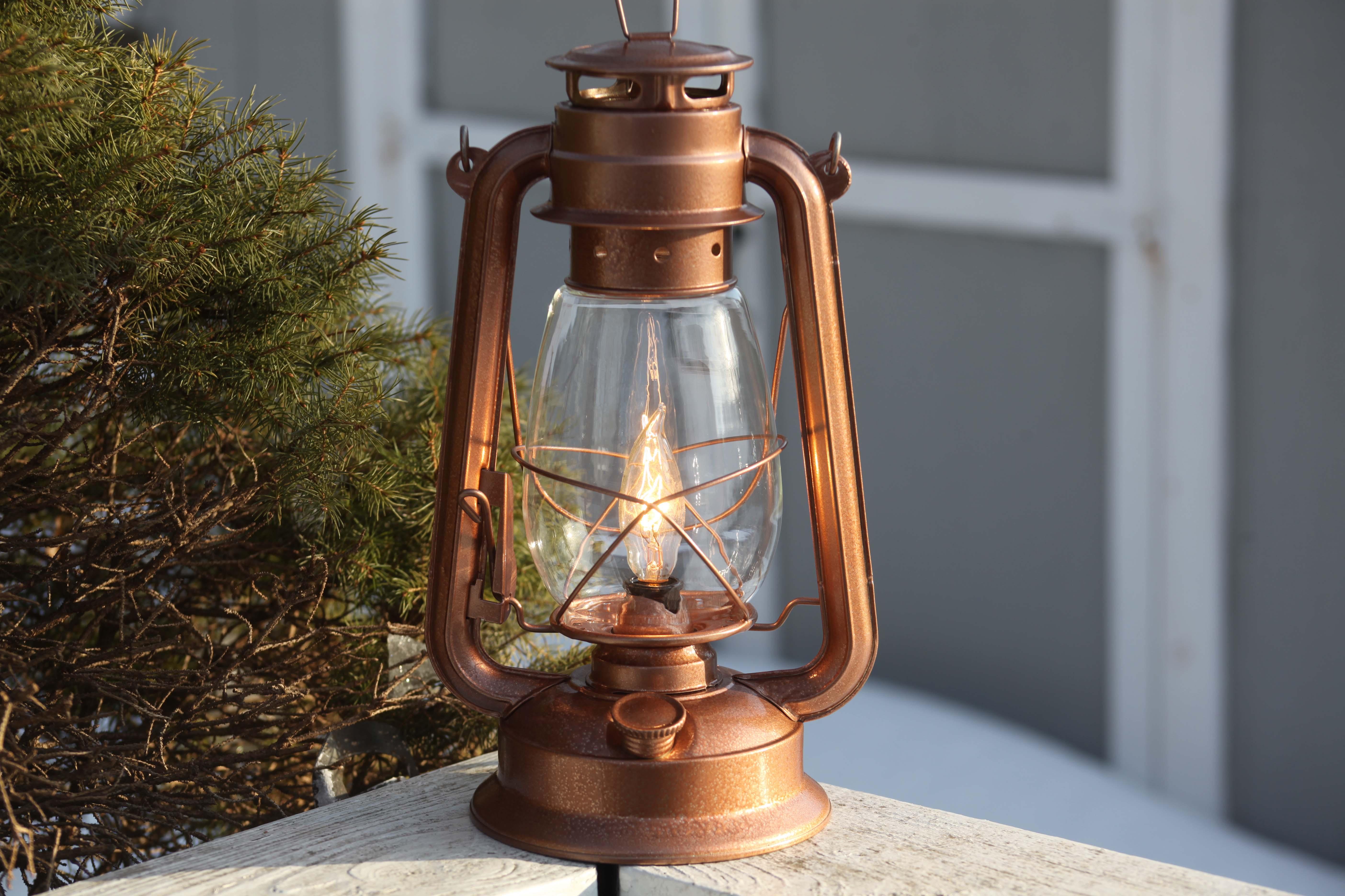 Electric Lantern Table Lamp Copper