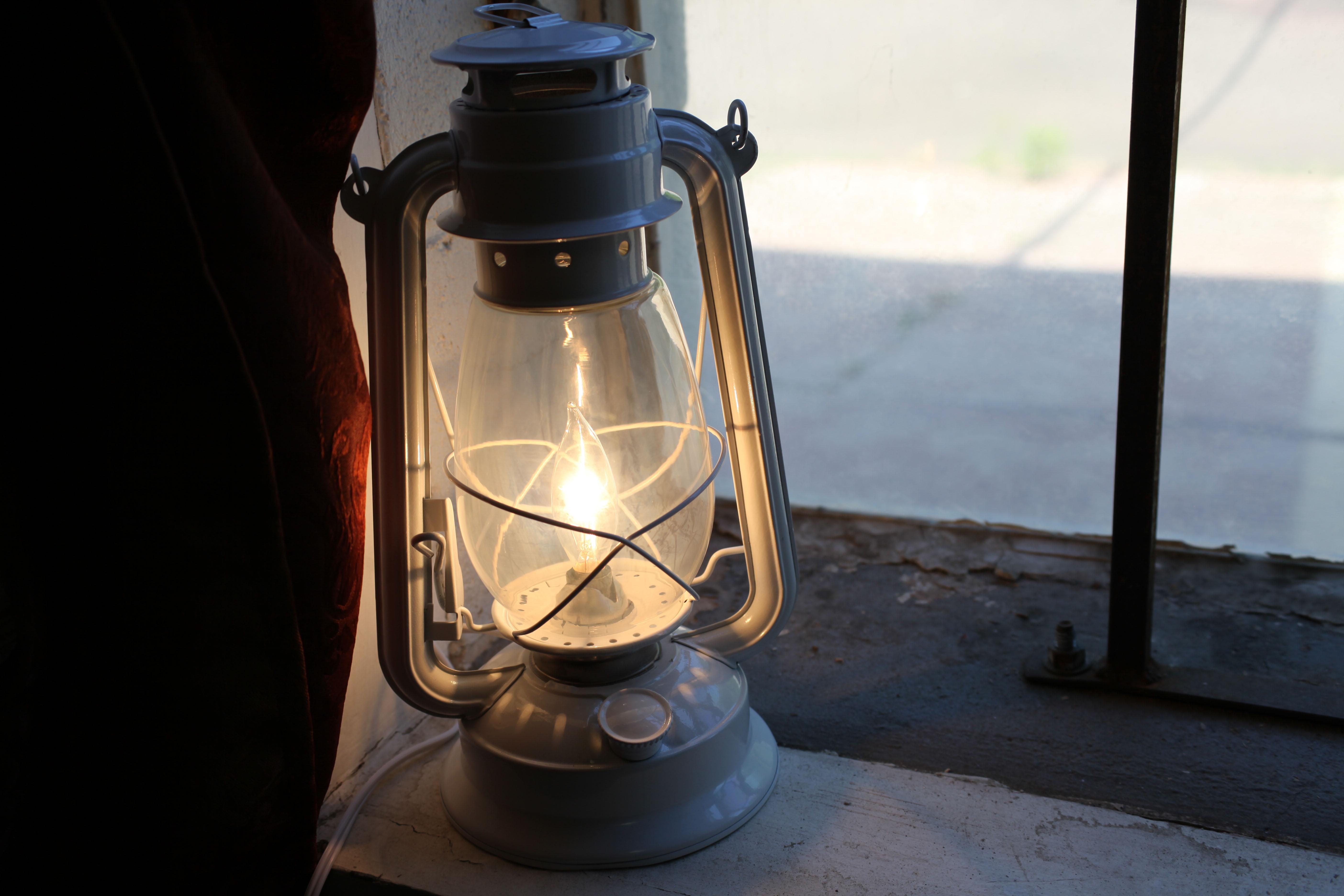 Electric lantern table lamp white lantern electric hurricane electric lantern table lamp aloadofball Gallery